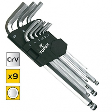 9 tlg. Steckschlüsselsatz Imbus Steckschlüsselsatz Inbusschlüssel Sechskant - 1