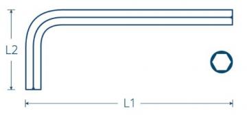 INBUS® 70150 Inbusschlüssel Set / Satz Kurz Metrisch 9tlg. 1,5-10mm | Made in Germany| Innensechskantschlüssel | Winkelschlüssel | 1,5mm | 2mm | 2,5mm | 3mm | 4mm | 5mm | 6mm | 8mm | 10mm | Kurze Ausführung - 2