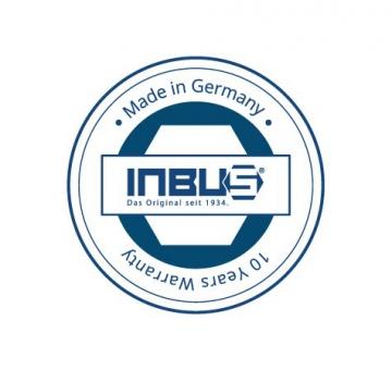 INBUS® 70150 Inbusschlüssel Set / Satz Kurz Metrisch 9tlg. 1,5-10mm | Made in Germany| Innensechskantschlüssel | Winkelschlüssel | 1,5mm | 2mm | 2,5mm | 3mm | 4mm | 5mm | 6mm | 8mm | 10mm | Kurze Ausführung - 3