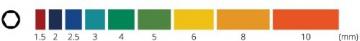 INBUS® 70266 Inbusschlüssel Satz Farbcodiert mit Kugelkopf Metrisch 9tlg. 1,5-10mm | Made in Germany | Innensechskantschlüssel | Winkelschlüssel | 1,5mm | 2mm | 2,5mm | 3mm | 4mm | 5mm | 6mm | 8mm | 10mm | bunt | farbig - 3