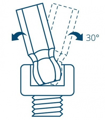 INBUS® 70266 Inbusschlüssel Satz Farbcodiert mit Kugelkopf Metrisch 9tlg. 1,5-10mm | Made in Germany | Innensechskantschlüssel | Winkelschlüssel | 1,5mm | 2mm | 2,5mm | 3mm | 4mm | 5mm | 6mm | 8mm | 10mm | bunt | farbig - 4