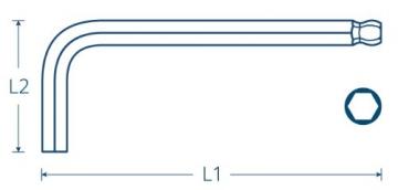 INBUS® 70266 Inbusschlüssel Satz Farbcodiert mit Kugelkopf Metrisch 9tlg. 1,5-10mm | Made in Germany | Innensechskantschlüssel | Winkelschlüssel | 1,5mm | 2mm | 2,5mm | 3mm | 4mm | 5mm | 6mm | 8mm | 10mm | bunt | farbig - 6