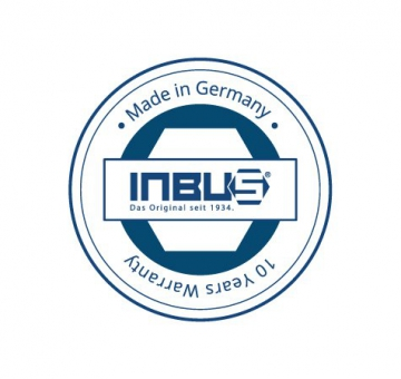 INBUS® 70266 Inbusschlüssel Satz Farbcodiert mit Kugelkopf Metrisch 9tlg. 1,5-10mm | Made in Germany | Innensechskantschlüssel | Winkelschlüssel | 1,5mm | 2mm | 2,5mm | 3mm | 4mm | 5mm | 6mm | 8mm | 10mm | bunt | farbig - 7