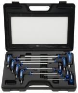 KS Tools 151.8160 Ergotorqueplus T-Griff TX-Winkelstiftschlüssel-Satz mit Bohrung, 9-teilig, TB10-TB50 - 1