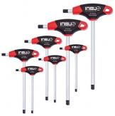 Original INBUS® Schlüssel Satz / Set 2K T-Griffe 8tlg. 2-10mm| Made in Germany | Innensechskantschlüssel | Winkelschlüssel | 2mm | 2,5mm | 3mm | 4mm | 5mm | 6mm | 8mm | 10mm | metrisch - 1
