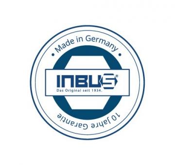 Original INBUS® Schlüssel Satz / Set 2K T-Griffe 8tlg. 2-10mm| Made in Germany | Innensechskantschlüssel | Winkelschlüssel | 2mm | 2,5mm | 3mm | 4mm | 5mm | 6mm | 8mm | 10mm | metrisch - 2