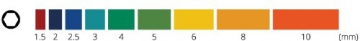Original INBUS® Schlüssel Set / Satz farbcodiert kurz bunt 9tlg. 1,5-10mm | Made in Germany | Innensechskantschlüssel | Winkelschlüssel | 1,5mm | 2mm | 2,5mm | 3mm | 4mm | 5mm | 6mm | 8mm | 10mm | bunt | farbig | Design | Kurze Ausführung - 2