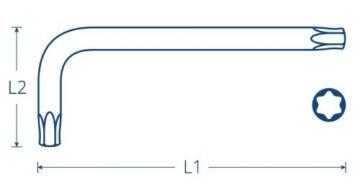 TORX® 70587 Winkel Schraubendreher Satz / Set Farbcodiert mit Kugelkopf 8tlg. TX 9-40 | Made in Germany | Torxschlüsselsatz | Schraubenschlüssel | T9 | T10 | T15 | T20 | T25 | T27 | T30 | T40 | TX | bunt | farbig | für Torx Schrauben - 4