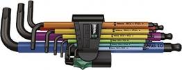 Wera 05073593001 950 SPKL/9 SM N Multicolour Winkelschlüsselsatz, metrisch, BlackLaser, 9-teilig - 1
