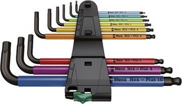 Wera 05073593001 950 SPKL/9 SM N Multicolour Winkelschlüsselsatz, metrisch, BlackLaser, 9-teilig - 2