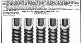 Bild zeigt die ersten Innensechskantschlüssel von William Allen.